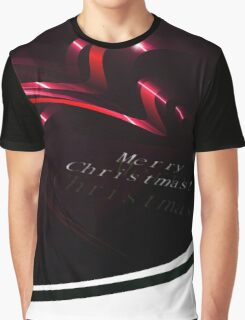 Abstract Christmas Ribbons Background Graphic T-Shirt
