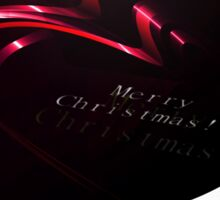 Abstract Christmas Ribbons Background Sticker