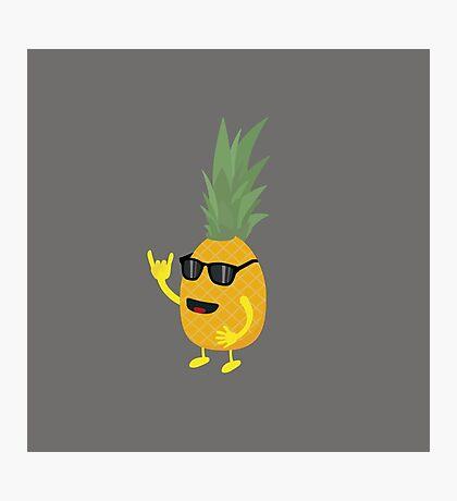 Heavy Metal Pineapple Photographic Print