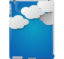Paper Clouds Background iPad Case/Skin