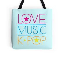 LOVE MUSIC K-pop Tote Bag