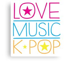 LOVE MUSIC K-pop Canvas Print