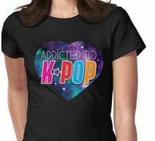 Addicted to k-pop (with cute starry sky heart) Womens Fitted T-Shirt