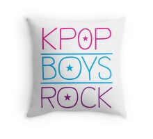 KPOP BOYS ROCK! Throw Pillow