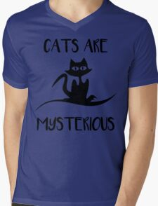 Cat - Cats are mysterious Mens V-Neck T-Shirt