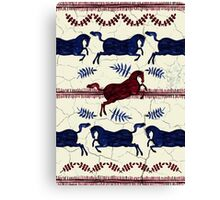 Ancient Greek Fresco - Navy & Red  Canvas Print