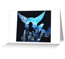 Ratchet and Clank with Wrench in Metropolis Greeting Card