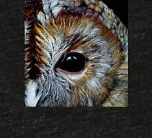 Tawny Owl in Coloured Pencil Tri-blend T-Shirt