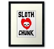 Sloth Love Chunk Framed Print
