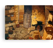 Traditional Cretan Kitchen Canvas Print