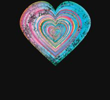 Distressed rainbow heart Womens Fitted T-Shirt