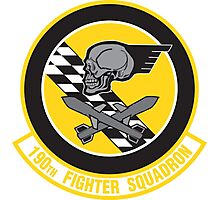 190th Fighter Squadron emblem Photographic Print