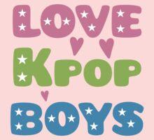 LOVE K-pop BOYS with stars Baby Tee