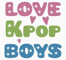 LOVE K-pop BOYS with stars Kids Tee