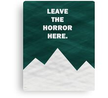Leave The Horror Here - Foals Tshirt Canvas Print