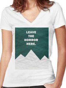Leave The Horror Here - Foals Tshirt Women's Fitted V-Neck T-Shirt