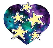Starry heart Photographic Print