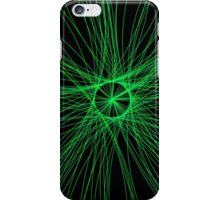 Circle of Rays - Green / Blue iPhone Case/Skin