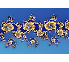 Fractal in Blue & Gold   Photographic Print