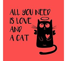 Cat - All you need is love and a cat! Photographic Print