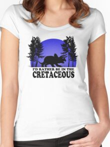 I'd Rather be in the Cretaceous Women's Fitted Scoop T-Shirt