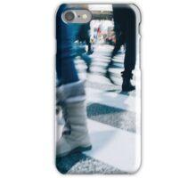 Blur of People Crossing Shibuya Crossing in Tokyo iPhone Case/Skin