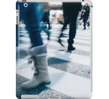 Blur of People Crossing Shibuya Crossing in Tokyo iPad Case/Skin