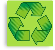 Recycling symbol Canvas Print