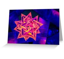 Star Red And Blue Greeting Card
