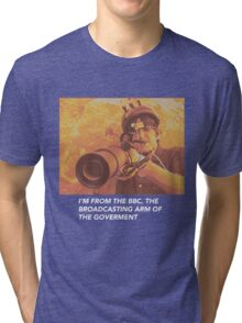 """Louis Theroux """"IM FROM THE BBC"""" Tri-blend T-Shirt"""