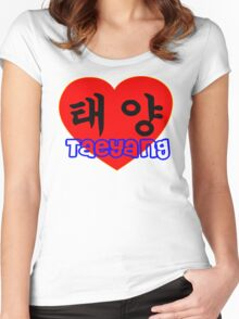 ♥♫I Love Taeyang-Fabulous K-Pop Clothes & Phone/iPad/Laptop/MackBook Cases/Skins & Bags & Home Decor & Stationary & Mugs♪♥ Women's Fitted Scoop T-Shirt