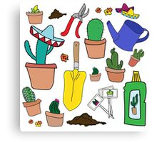 The Cactus Lover Package Canvas Print
