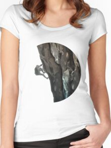 The Rock Climber Women's Fitted Scoop T-Shirt