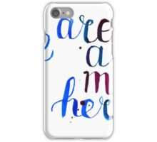 We are all mad here - Alice in Wonderland quote in watercolor iPhone Case/Skin