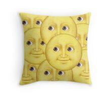 Moon emoji layered design! Throw Pillow