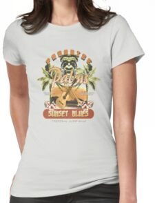 sunset blues Womens Fitted T-Shirt