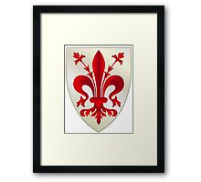 Coat of Arms of Florence Framed Print