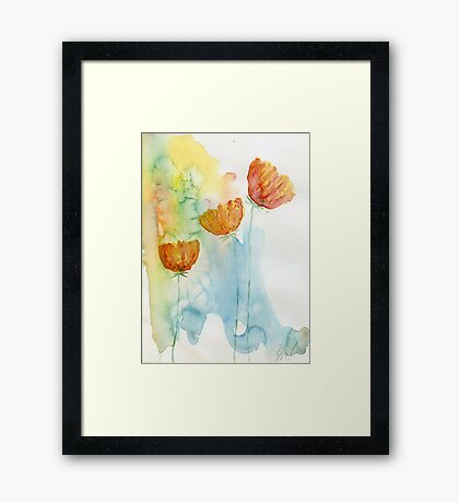 Daisies #12 – Daily painting #743 Framed Print