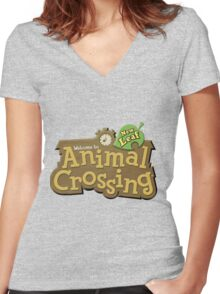 ACNL Women's Fitted V-Neck T-Shirt