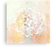 White mandala Canvas Print