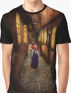 City - Germany - Alley - A long hard life 1904 Graphic T-Shirt