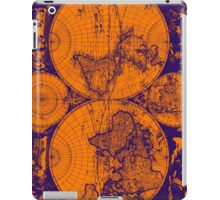 Vintage Map of The World (1685) Purple & Orange  iPad Case/Skin