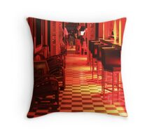 LOVE hotel and restaurant at night, St. Martin  Throw Pillow