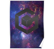 Galaxy Cube Poster