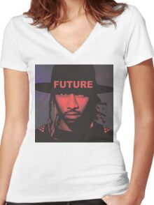 FUTURE [4K] Women's Fitted V-Neck T-Shirt