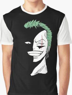 Roronoa Zoro Black and White Graphic T-Shirt