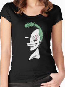 Roronoa Zoro Black and White Women's Fitted Scoop T-Shirt