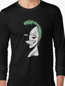 Roronoa Zoro Black and White Long Sleeve T-Shirt