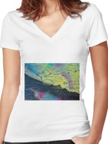 Dark Side of the Sunrise Women's Fitted V-Neck T-Shirt