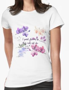 Paint Flowers Womens Fitted T-Shirt